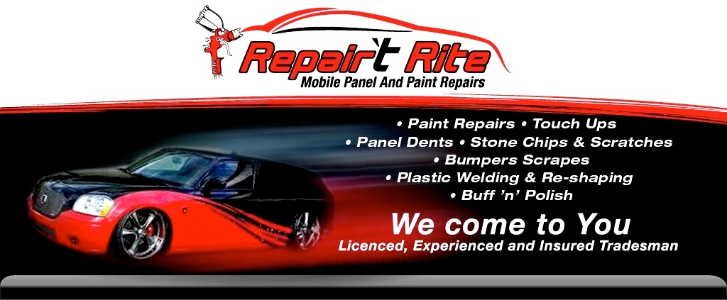 Repair't Rite Mobile Panel & Paint Repairs - Paint Repairs, Touch Ups, Panel Dents, Stone Chips & Scratches, Bumper Scrapes, Plastic Welding & Reshaping, Buff & Polish Servicing the Sunshine Coast, We Come To You